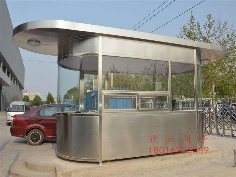 上海不锈钢岗亭厂家浅析怎样处理不锈钢岗亭划痕和脏污